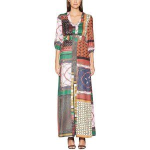 Boutique Moschino Patchwork Scarf Maxi Dress